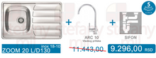 SET SUDOPERA ZOOM 20 L/D + ARC 10