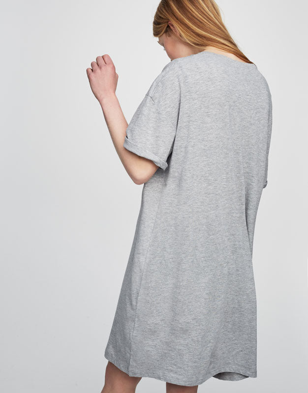 Quilted Mesh T-Shirt Dress