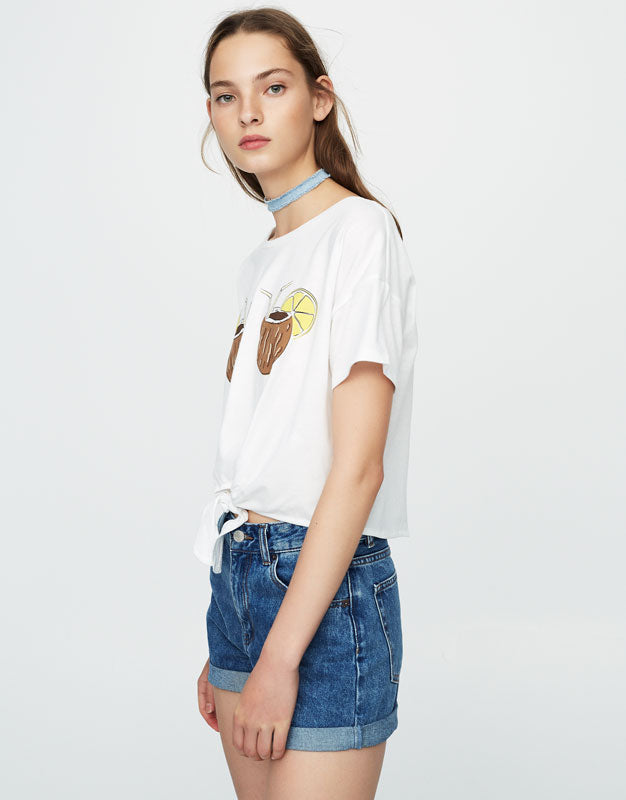 Coconut Doubled T-Shirt