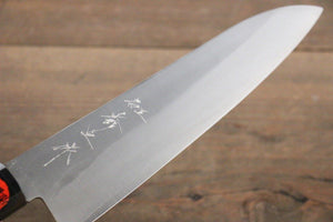 Shigeki Tanaka VG10 180mm Gyuto Knife with Nashiji Finish - The Sharp Chef - The Best Authentic Japanese Chefs Knives in the UK from Iseya, Shigekis Tanaka and Sakai Takayuki, sharpening rods, whetstones, stones, saya sheath, handmade traditional blacksmith bladesmith steel damascus vg10 quality sharp chef knife kitchen layer hammered mirrored western handle aus-10 molybdenum