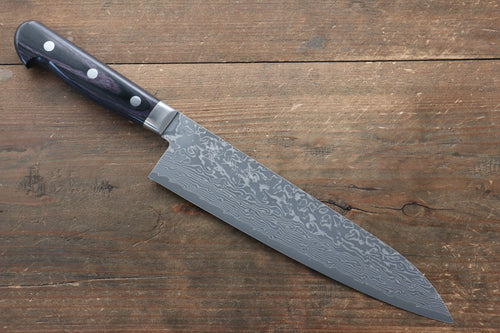 Yoshimi Kato VG10 Nickel Damascus 210mm Gyuto Knife with Black Handle