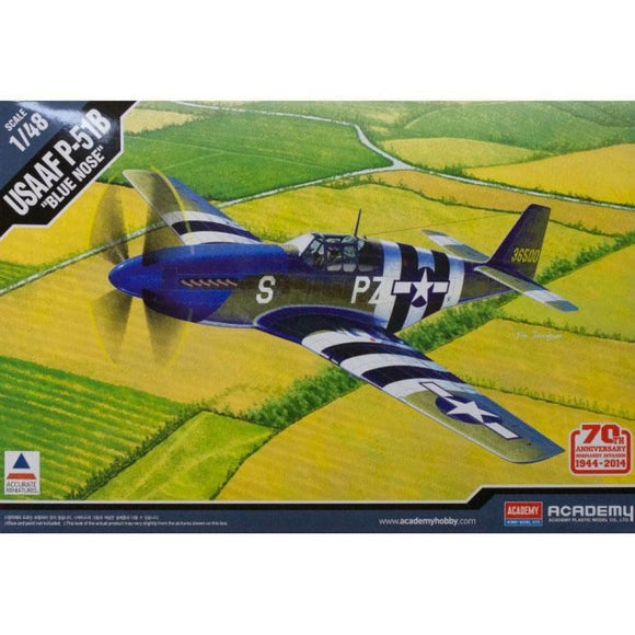 Academy 1/48 Usaaf P-51B Blue Nose 70Th Anniversary Normandy Invasion 1944 Plastic Kits