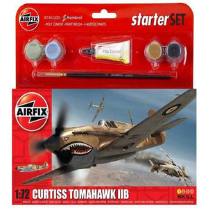 Airfix Curtiss Tomahawk Iib Starter Set 1:72 Plastic Kits