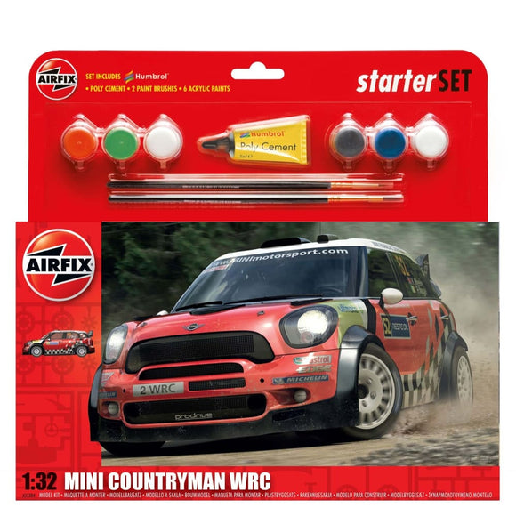 Airfix Mini Countryman Wrc Starter Set 1:32 Plastic Kits