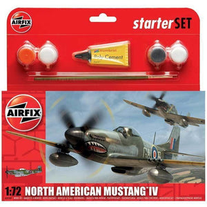 Airfix North American Mustang Iv Starter Set 1:72 Plastic Kits