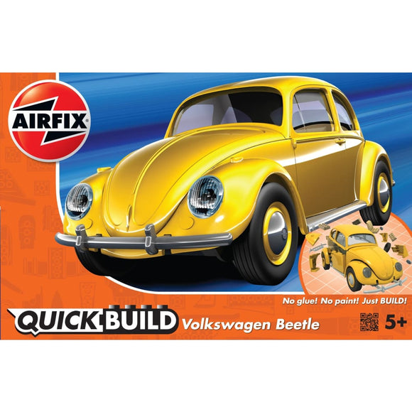 Airfix Quick Build Vw Beetle Yellow Plastic Kits