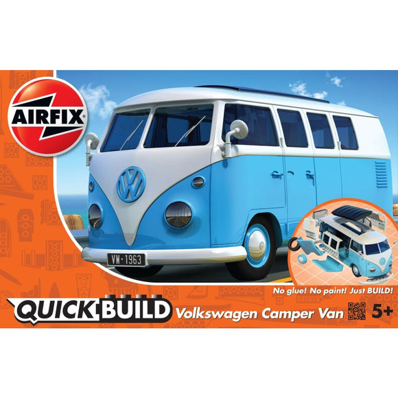 Airfix Quick Build Vw Camper Van Blue Plastic Kits