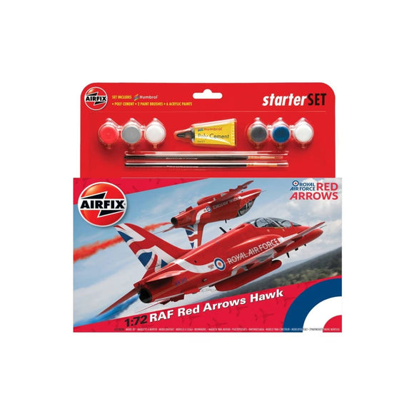 Airfix Raf Red Arrows Hawk 2015 Starter Set 1:72 Plastic Kits