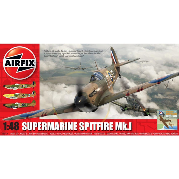 Airfix Supermarine Spitfire Mk.i 1:48 Battle Of Britain 75Th Anniversary Set Plastic Kits