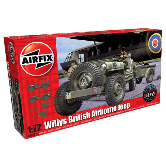 Airfix Willys British Airborne Jeep 1:72 Plastic Kits