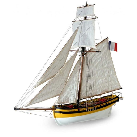 Artesania Wooden Model Ship Kit: Le Renard 1/50 Wood Kits