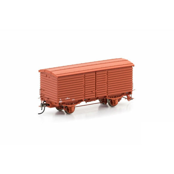 Auscision U Van Vr Wagon Red 1960-1972 Body Version 4 (6 Car Pack) Vfw-11 Ho Rolling Stock