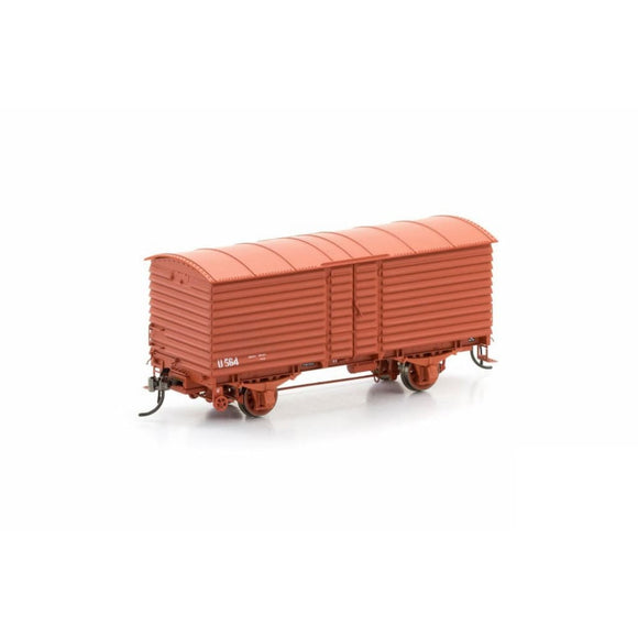 Auscision U Van Vr Wagon Red 1972-1985 Body Version 1 (6 Car Pack) Vfw-3 Ho Rolling Stock