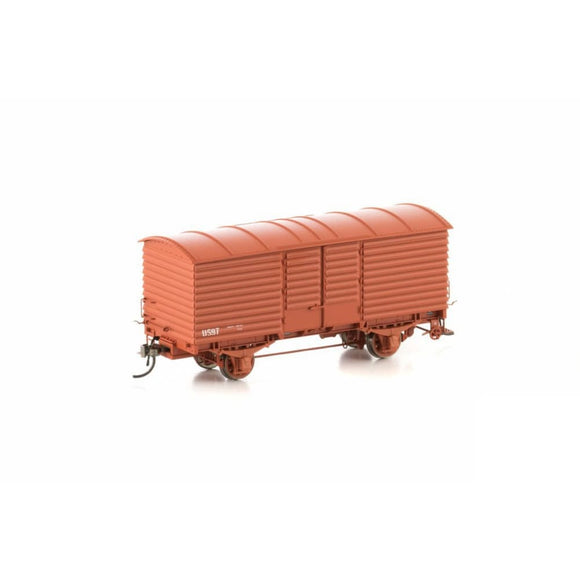 Auscision U Van Vr Wagon Red 1972-1985 Body Version 2 (6 Car Pack) Vfw-6 Ho Rolling Stock