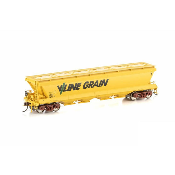 Auscision Vhgy Grain Hopper V/line Grain Yellow 4 Car Pack Vgh-29 Ho Rolling Stock