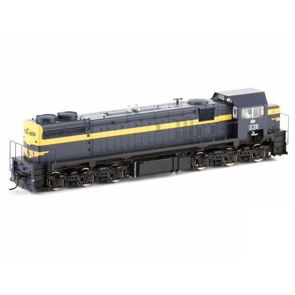 Auscision Victorian X Class Locomotive X35 Vr Blue And Gold Vr X-1 Ho Locomotives