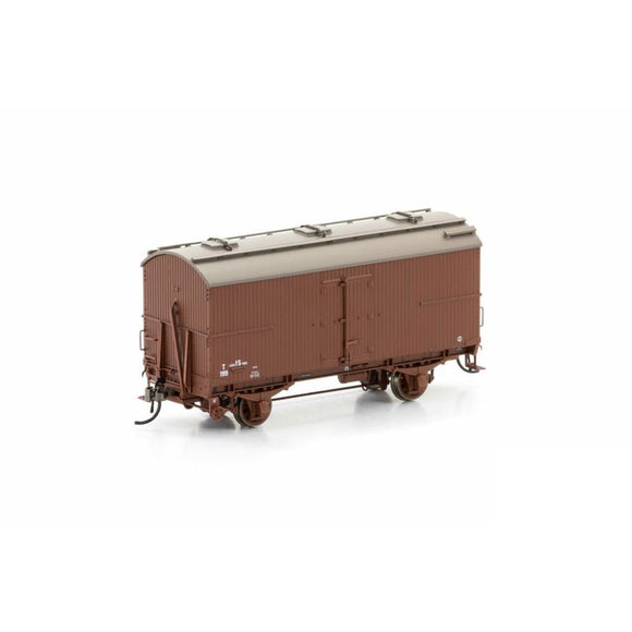 Auscision Wooden T Van Vr Brown 1954-1960 (6 Car Pack) Vfw-16 Ho Rolling Stock
