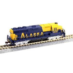 Bachmann Usa 63598 N Scale Locomotive Diesel Emd Gp40 Analog Alaska N Locomotives