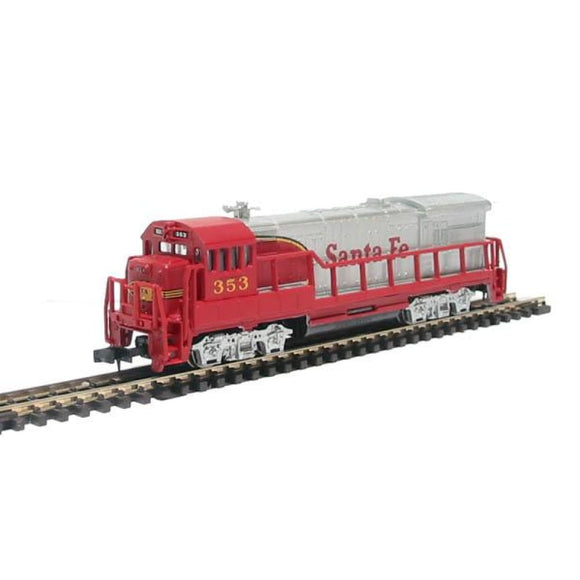 Bachmann Usa 64052 U36B Diesel Loco In Santa Fe - Silver And Red Livery - N Scale N Locomotives