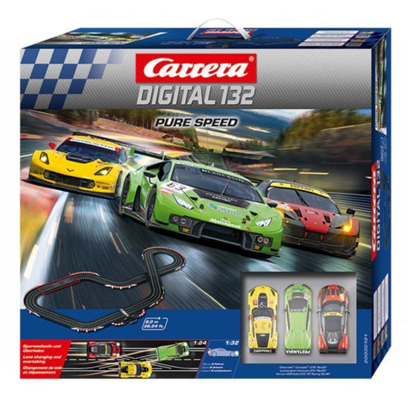Carrera Digital 132 Pure Speed Slot Car Set Slot Cars