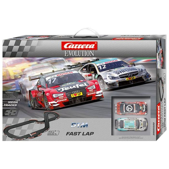 Carrera Evolution Dtm Fast Lap Slot Car Set - Audi A5 & Amg Mercedes C-Coupe Slot Cars
