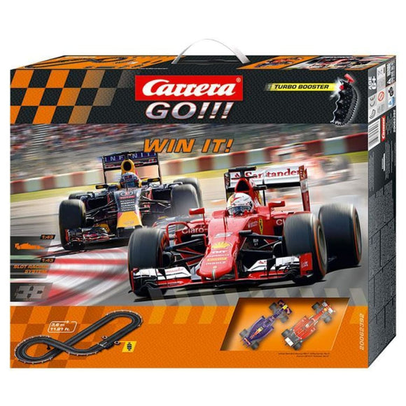 Carrera Go!!! Win It! F-1 Slot Car Set Slot Cars
