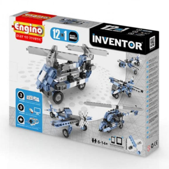 Engino Inventor Set - 12 Models Of Aircraft Inventor Series