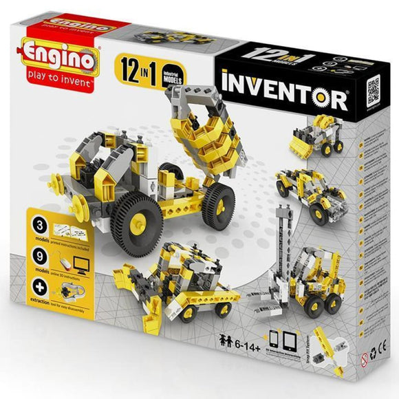 Engino Inventor Set - 12 Models Of Industrial Machinery Inventor Series