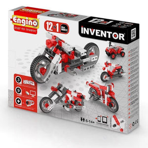 Engino Inventor Set - 12 Models Of Motor Bikes Inventor Series
