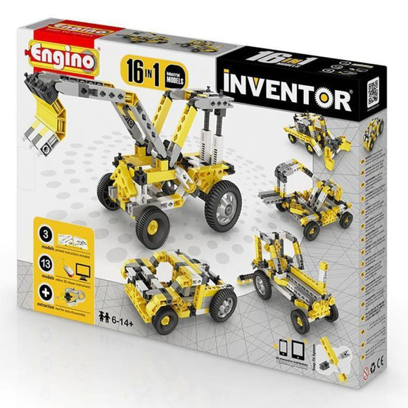 Engino Inventor Set - 16 Models Of Industrial Machinery Inventor Series