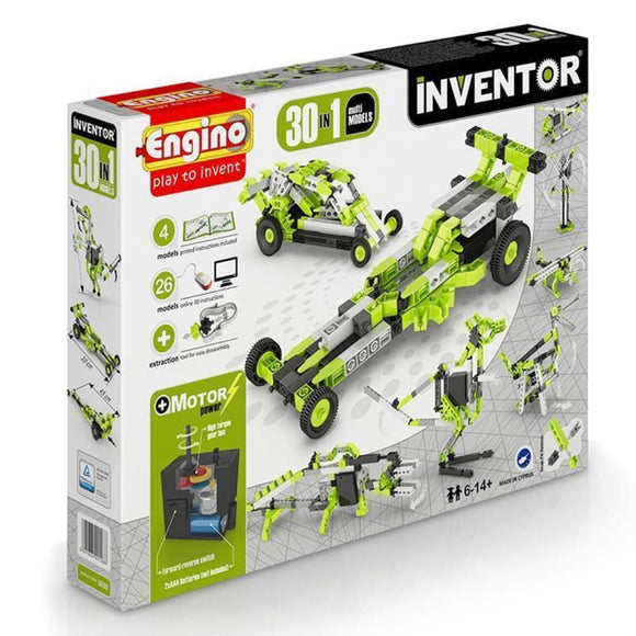 Engino Inventor Set - 30 In 1 Motor Power Multi Models Inventor Series