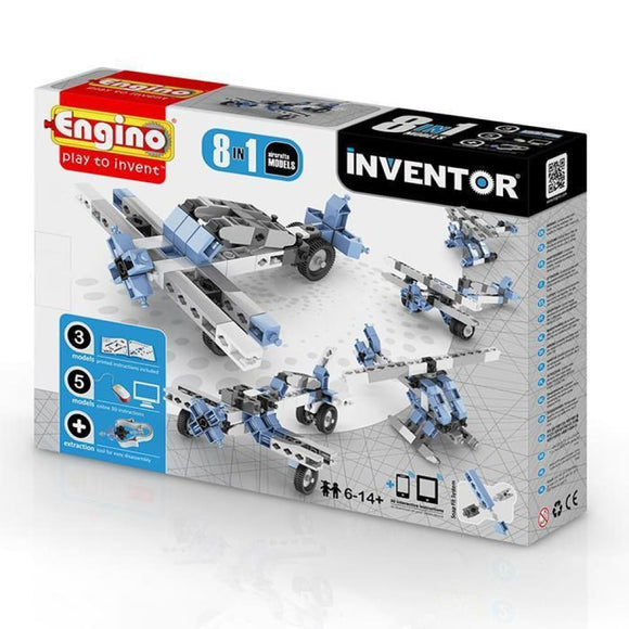 Engino Inventor Set - 8 Models Of Aircraft Inventor Series