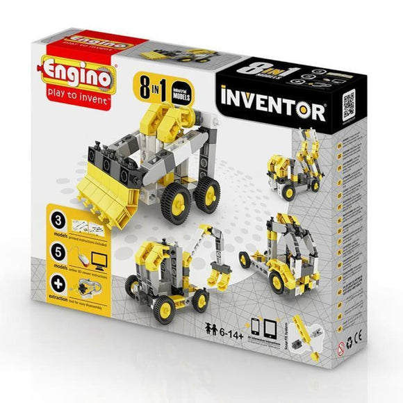 Engino Inventor Set - 8 Models Of Industrial Machinery Inventor Series