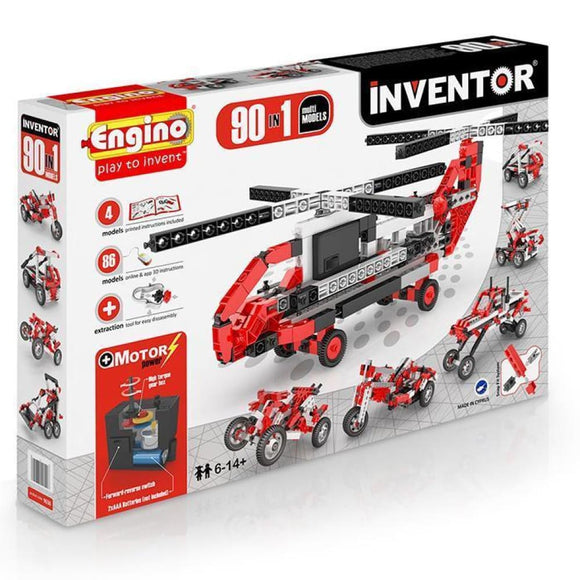 Engino Inventor Set - 90 In 1 Motor Power Multi Models Inventor Series