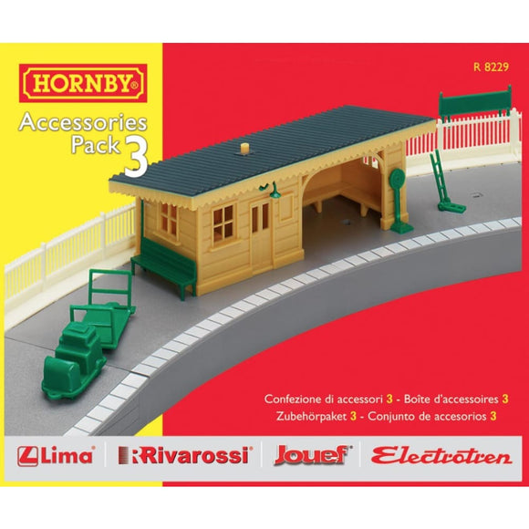 Hornby Trakmat Accessories Pack 3 Model Railway Accessories