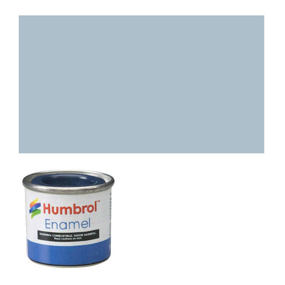 Humbrol 127 US Ghost Grey Satin - 14ml Enamel Paint