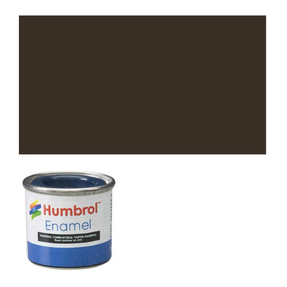 Humbrol 10 Service Brown Gloss - 14Ml Enamel Paint Paint
