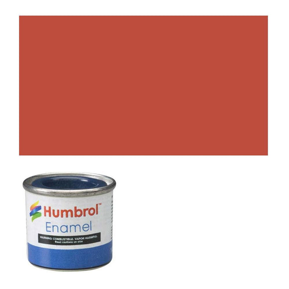 Humbrol 100 Red Brown Matt - 14Ml Enamel Paint Paint