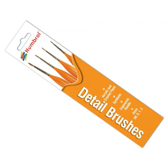 Humbrol Detail Brush Pack Paint Brushes