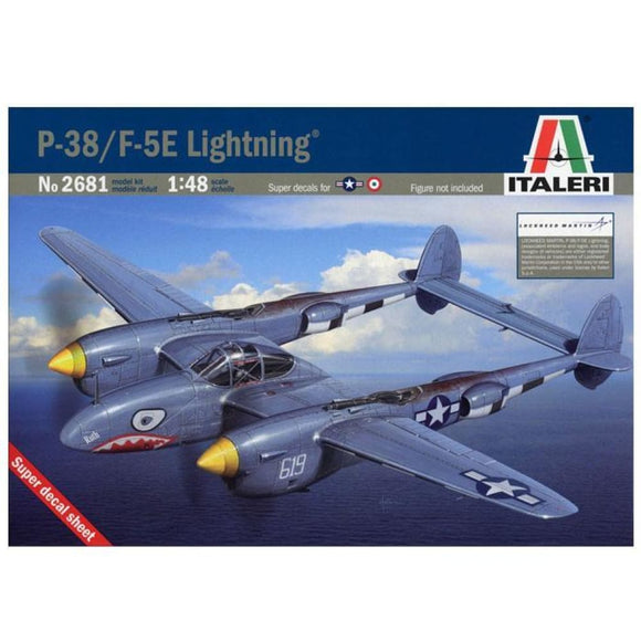 Italeri 1/48 P-38/f-5E Lightning Model Aircraft Kit Plastic Kits