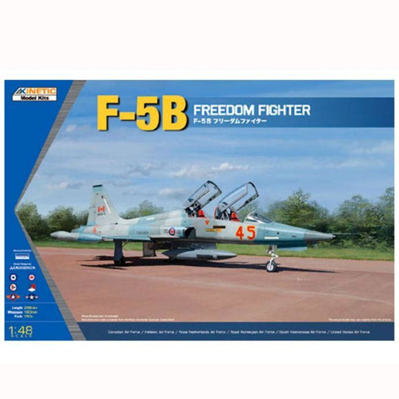 Kinetic 1/48 Freedom Fighter F-5B/cf-5B/nf-5B Model Aircraft Kit Plastic Kits