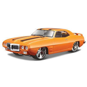Maisto Design - 1:25 1969 Pontiac Firebird - Orange With Black Stripes Die Cast Cars