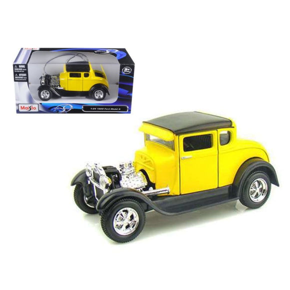 Maisto Special Edition 1:24 1929 Ford Model A - Yellow Die Cast Cars