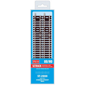 Peco Ho/oo Code 100 St-2000 Standard Straight (Pack Of 8) Model Railway Track