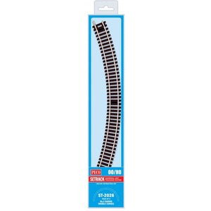 Peco Ho/oo Code 100 St-2026 Double Curve 2Nd Radius (Pack Of 4) Model Railway Track