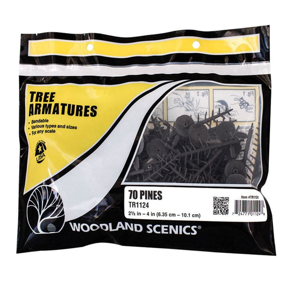 Woodland Scenics 2 1/2 In To 4 In Armatures (Pine) Tr1124 Scenery