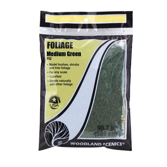 Woodland Scenics Foliage Medium Green F52 Scenery
