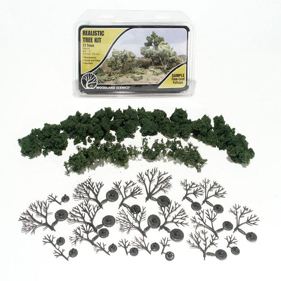 Woodland Scenics Realistic Tree Kit - 21 Deciduous - Tr1111 Scenery