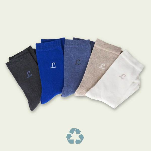 Collection chaussettes coton recyclé made in france