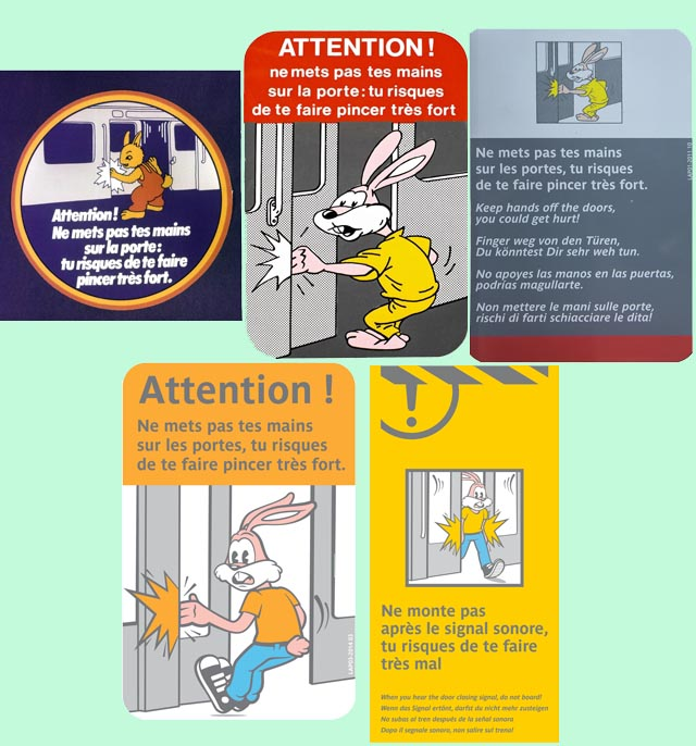 affiches stickers serge le lapin ratp metro transilien